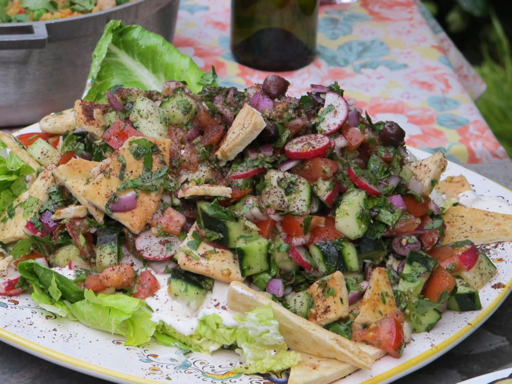 Fattoush Salad Recipe - Nicole Aloni Culinary Studio