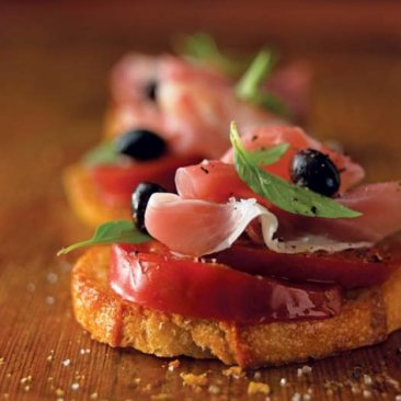 Prosciutto and Olive Bruschetta