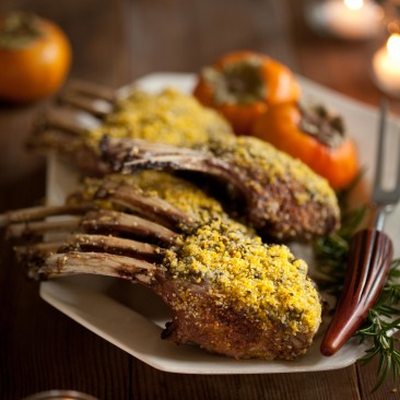 Mustard Rosemary Rack of Lamb